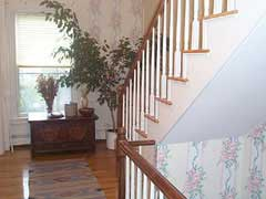 A staircase in a house; Actual size=240 pixels wide